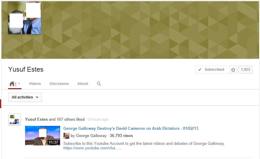 George Galloway has been calling for revolution in the Arab world for 35 years, and Yusuf Estes likes this!