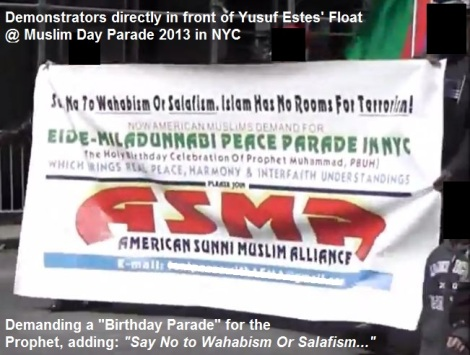 The ASMA group marches and denounces Salafism, demanding a birthday parade for Islam's prophet.